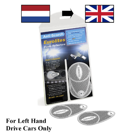 Headlight Beam Deflectors Converters for Left Hand Drive Cars NL