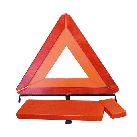 Large Reflective Warning Triangle Sign & Orange Safety Vest