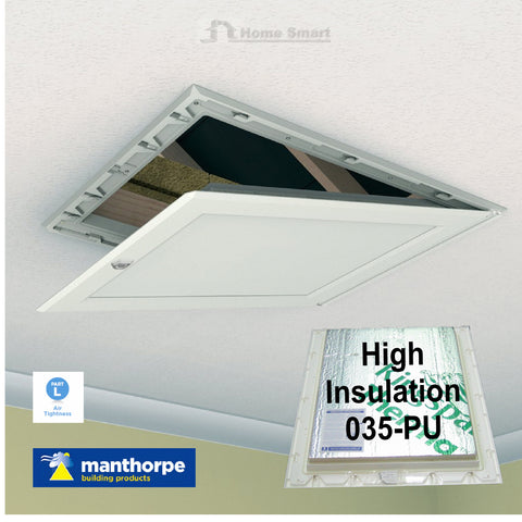 Manthorpe 035-PU High Insulated Loft Trap Door Hinged Hatch