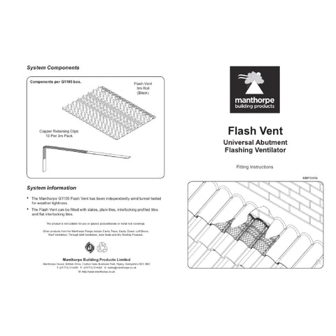 Manthorpe Flash Vent Roofing Lead Ventilation Abutment Flashing