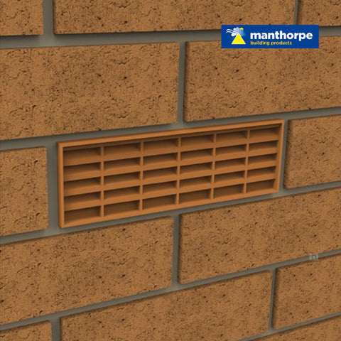 Manthorpe Buff Interlocking Air Brick Vents / Menu Options
