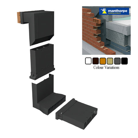 Telescopic Adjustable Underfloor Cavity Wall Vents with Extensions