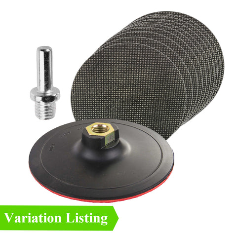 Mixed Grit Hook & Loop Mesh Sanding Discs & Backing Pad Kit Menu Options