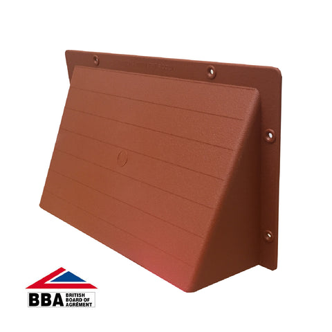 Rytons Terrracotta Cowl Air Vent Hooded Cover for Grilles & Extractors