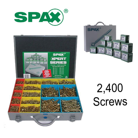 SPAX Xpert 2400 Assorted Wood Screws in Metal Organiser Case