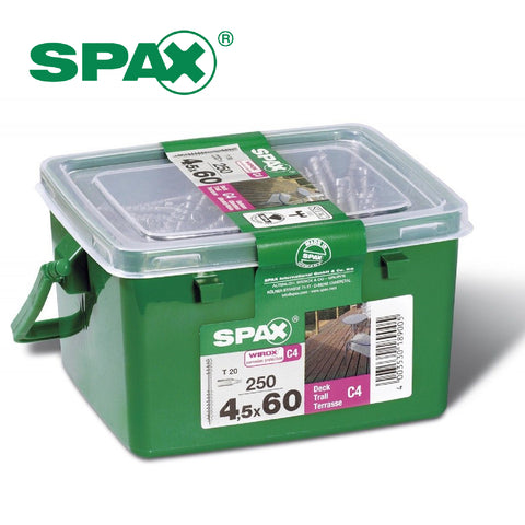 250 x Spax T-Star Plus Decking Screws <br> Size: 4.5 x 60mm