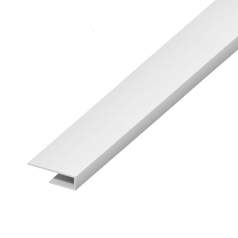 10 x White Start J Trim for UPVC Plastic Cladding & Soffit Boards