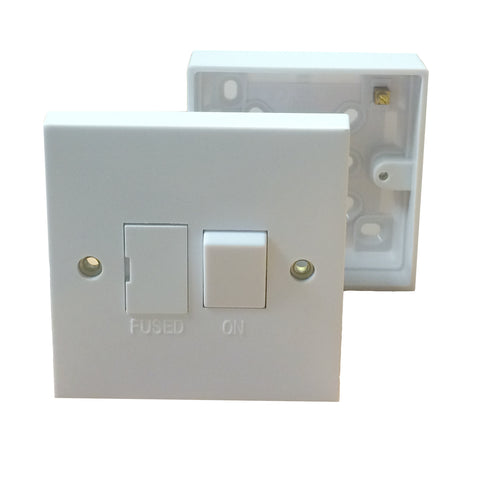 Electrical White Sockets & Switches with Pattress / Menu Options