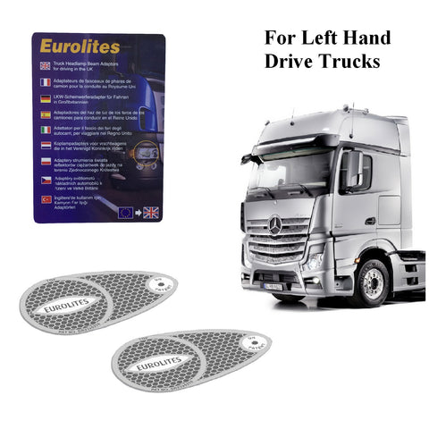 Truck Headlight Beam Deflectors Converters for Left Hand Drive Lorries