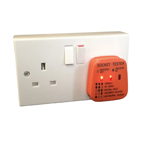 UK Mains Socket Tester 240v Polarity Test / 3 Pin Plug House Electrical