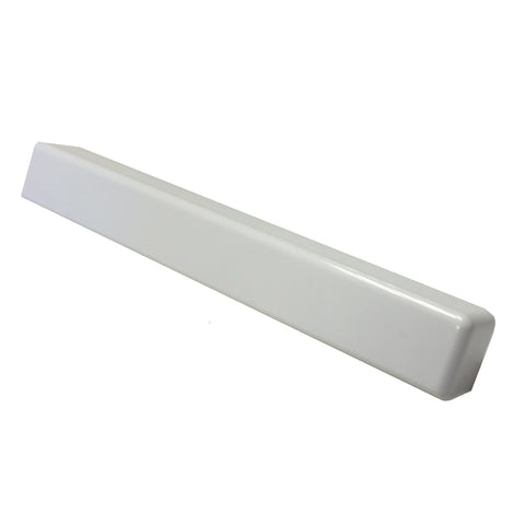 10 x Fascia Board Corner Joints White 300mm Round Edge Profile