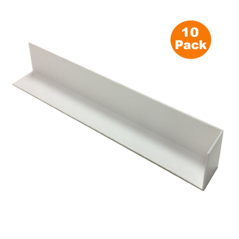 10 x Fascia Board Corner Joints White 300mm Square Edge Profile