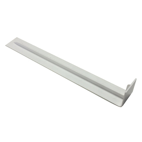 Fascia Board Straight Butt Joints White Round Edge Profile / Size Options