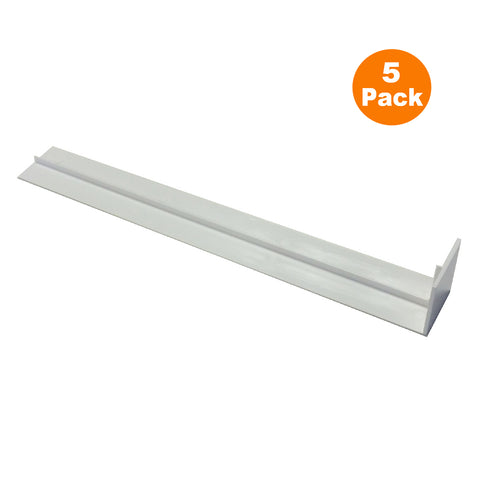 5 x Fascia Board Straight Butt Joints White 300mm Square Edge Profile