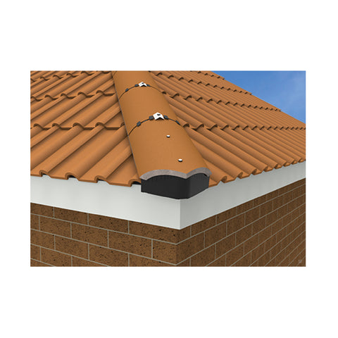 Universal Hip End Tile Closer. Dry Roof Fixing Alternative to Mortaring.
