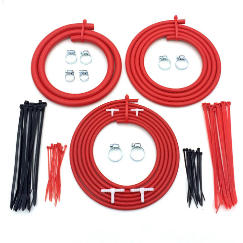 Universal Motorsport Engine Bay Red Silicone Hose Dress Up Kit