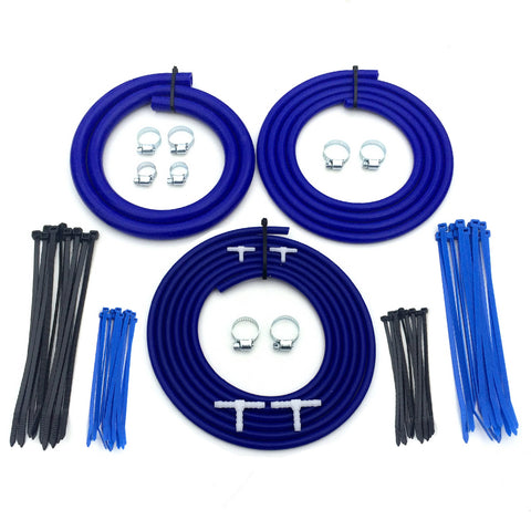 Universal Motorsport Engine Bay Blue Silicone Hose Dress Up Kit