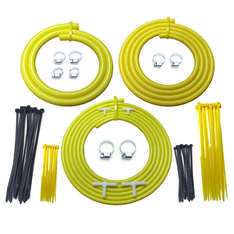 Universal Motorsport Engine Bay Yellow Silicone Hose Dress Up Kit