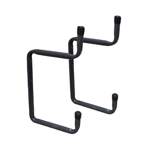 2 x Wall Mounted 200mm Double Utility Ladder Hooks<br><br>