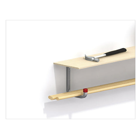 2 x Wall Mounted 50kg Storage Hook with Shelf Support Bracket