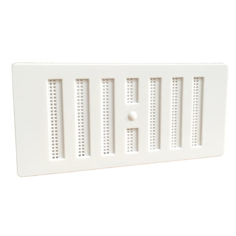 "6"" x 3"" White  Adjustable Air Vent Grille with Flyscreen Cover"