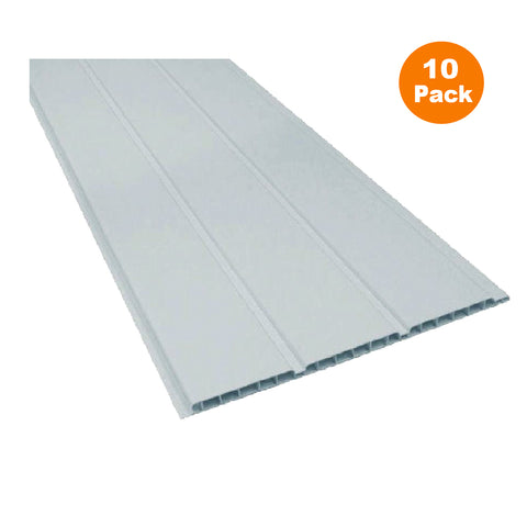 UPVC Plastic Soffit Board White Hollow Cladding Pack Size Options