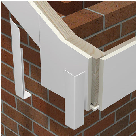 5 x Fascia Board Straight Butt Joints White 300mm Round Edge Profile