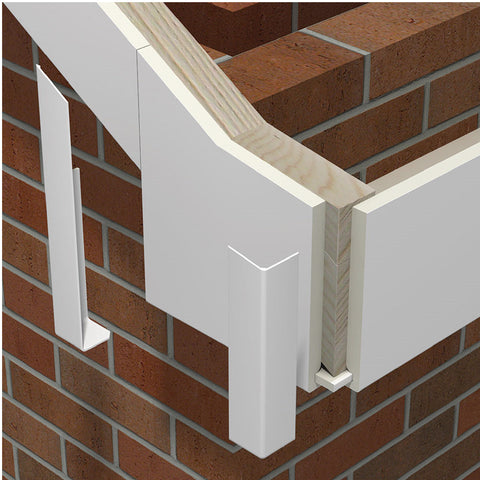 5 x Fascia Board Corner Joints White 300mm Square Edge Profile