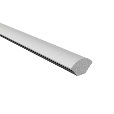 White 1.2 metre Quadrant UPVC 19mm Window Trim  <br>Menu Options