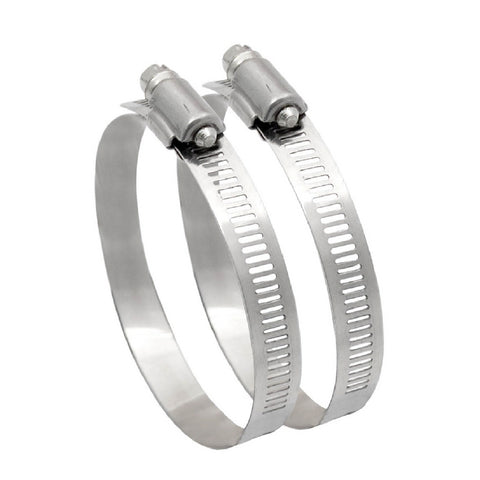 2 x Worm Drive Hose Clamp for 100mm Flexible Ducting 4
