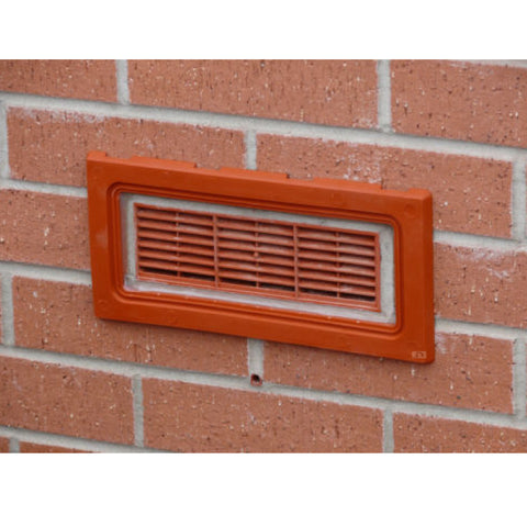 Terracotta Framed Flood Water Defence Protection Airbrick Cover