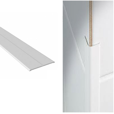 White UPVC Plastic Flexible Angle Corner Trim <br> Menu Options