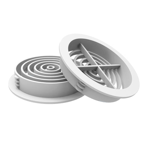 White Plastic 70mm Round Soffit Air Vents <br> Menu Options