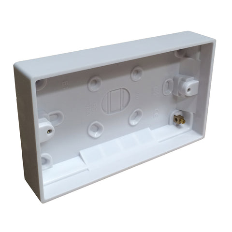Surface Mounted Back Box 25mm Wall Pattress Double 2 Gang / Menu Options