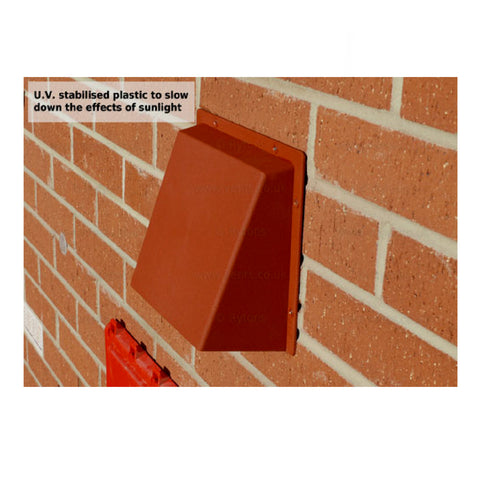 Rytons Terrracotta Cowl Air Vent Hooded Cover For Grilles