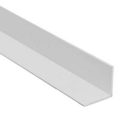 2 x White UPVC Plastic Rigid Angle 50mm x 50mm x 2.5 Metre