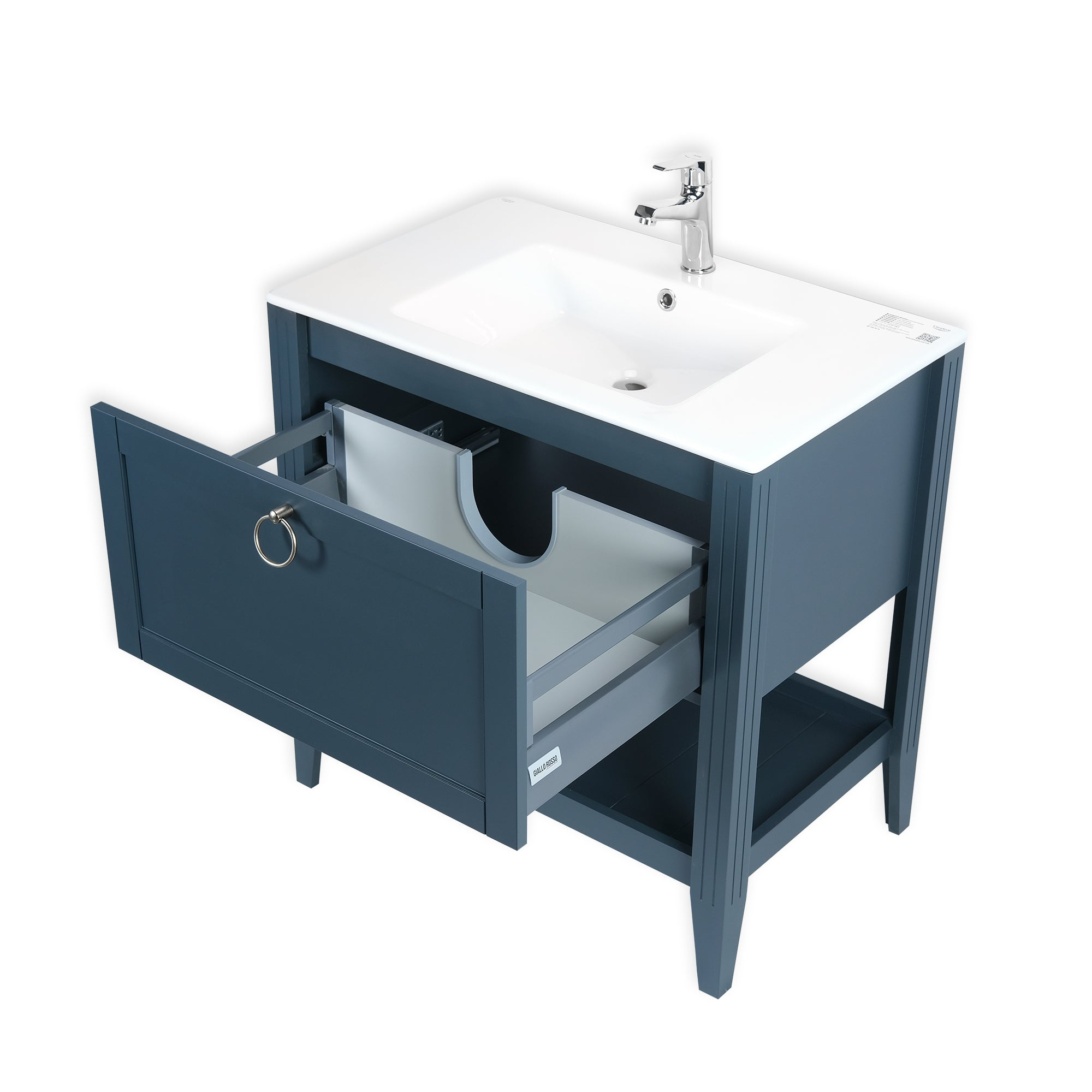 SOFIA 32INCH FREE STANDING VANITY AND SINK COMBO WITH MATCHING MIRROR - CHARCOAL GRAY