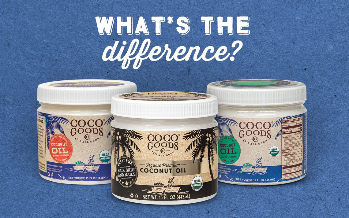 What's the difference between Refined, Unrefined and Premium Coconut Oil?