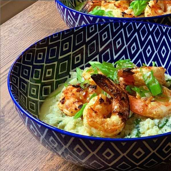 Spicy Shrimp and Coconut Cauliflower Risotto