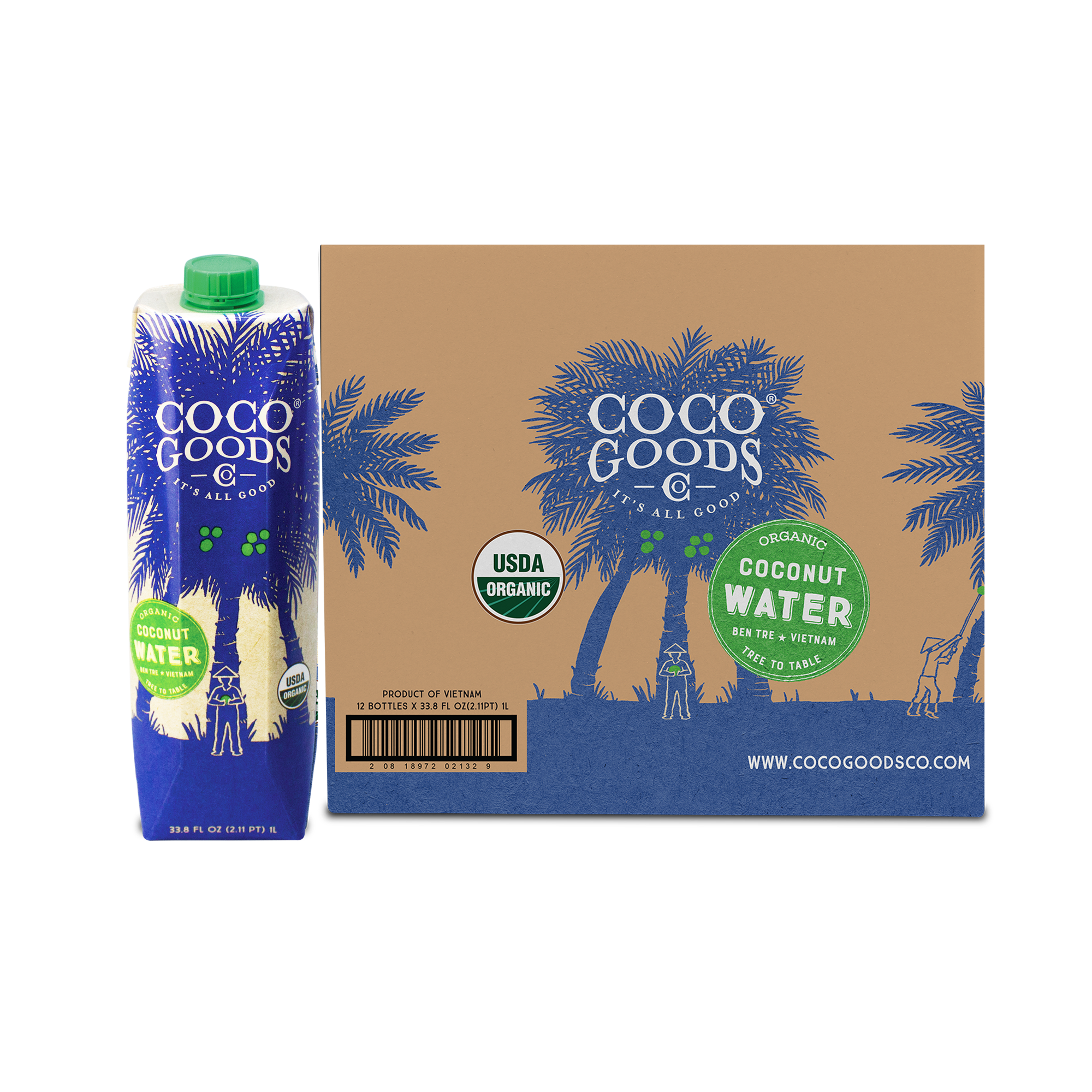 100% Organic Coconut Water 33.8 fl. oz, 6 pack