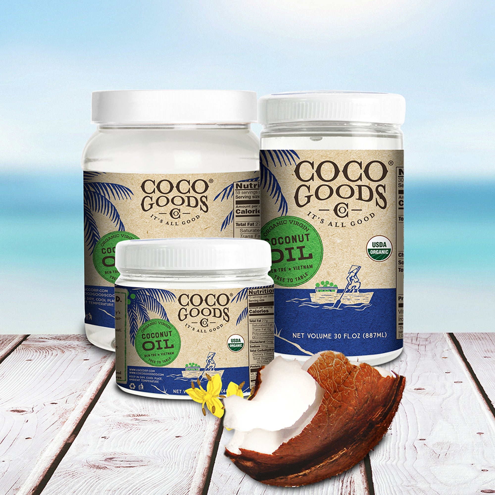 Organic Extra Virgin Coconut Oil, Cold-Pressed
