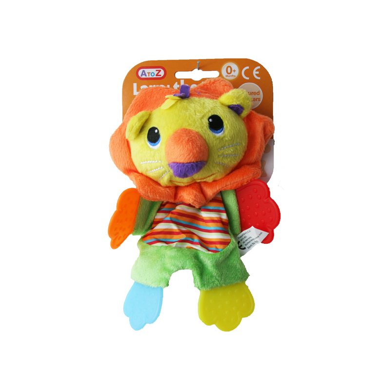 LION SOFT TOY WITH TEETHERS