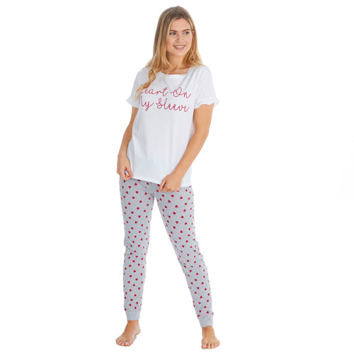 LADIES LOVE T-SHIRT AND PANTS SET