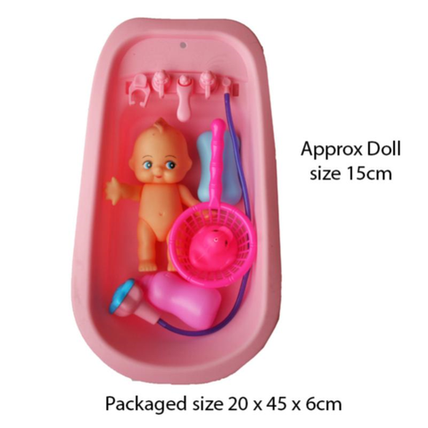 DOLL IN BATH