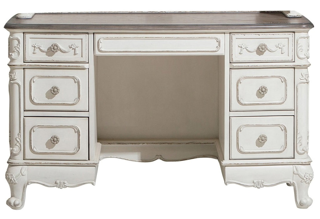 Homelegance Cinderella Writing Desk in Antique White with Grey Rub-Through 1386NW-11 image