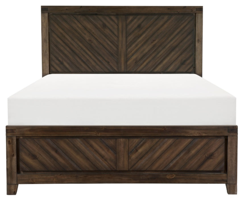 Homelegance Parnell Queen Panel Bed in Rustic Cherry 1648-1* image
