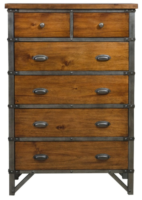 Homelegance Holverson Chest in Rustic Brown & Gunmetal 1715-9 image