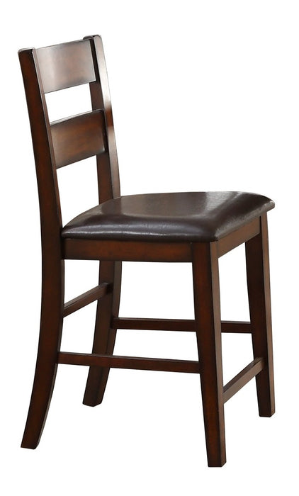 Homelegance Mantello Counter Height Chair in Cherry (Set of 2) image