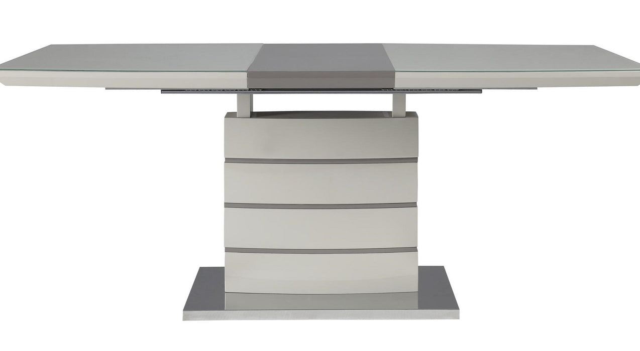 Homelegance Glissand Dining Table in White & Gray 5599-71* image