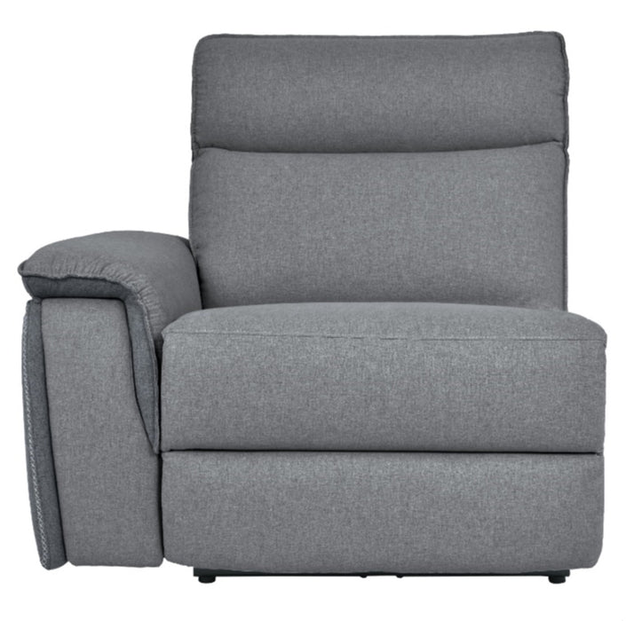 Homelegance Furniture Maroni Power LSF Reclining Chair with Power Headrest and USB Port in Dark Gray/Light Gray 8259-LRPWH image